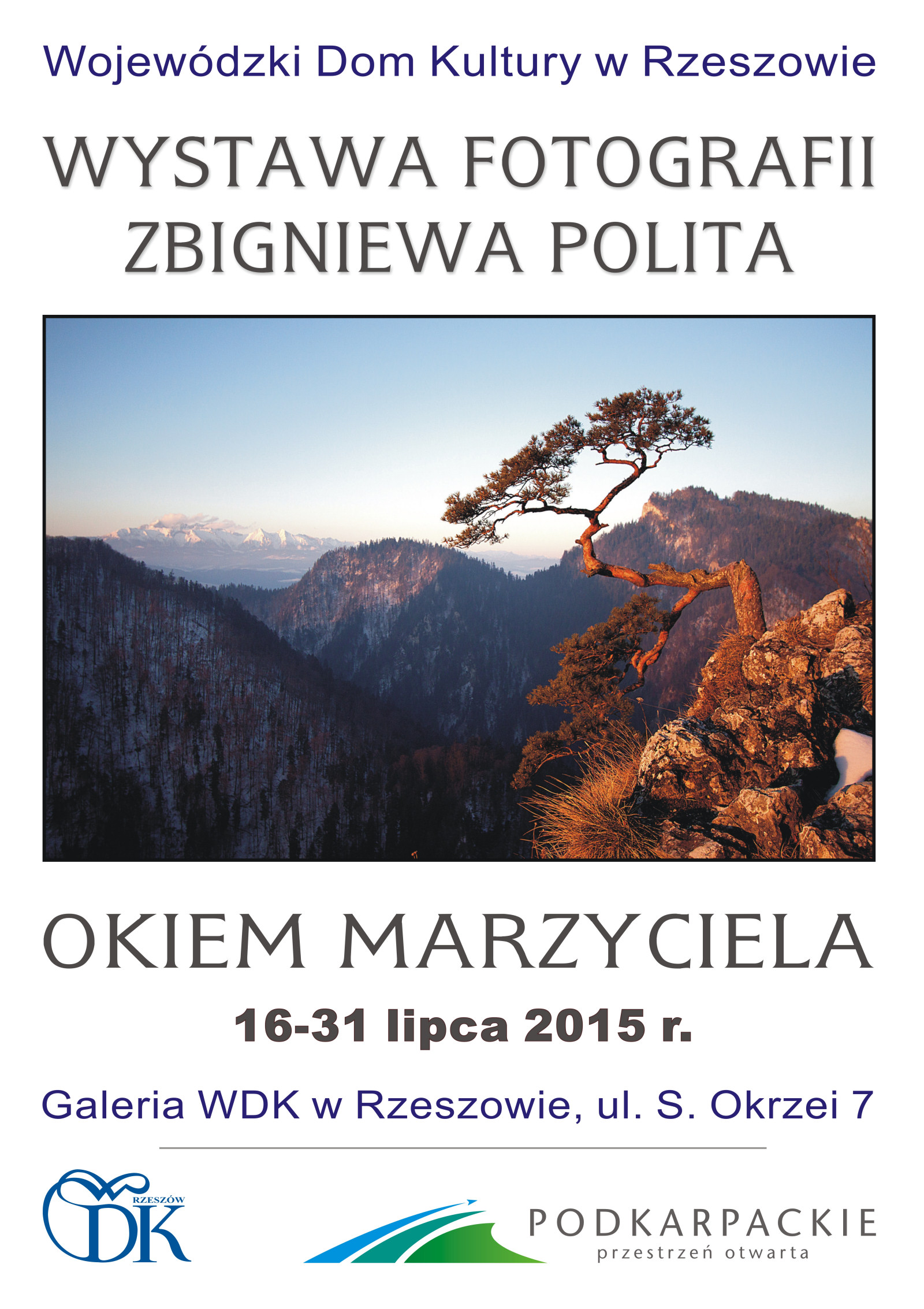 Plakat-wystawy-Zbigniewa-Polita-WDK-w-Rzeszowie