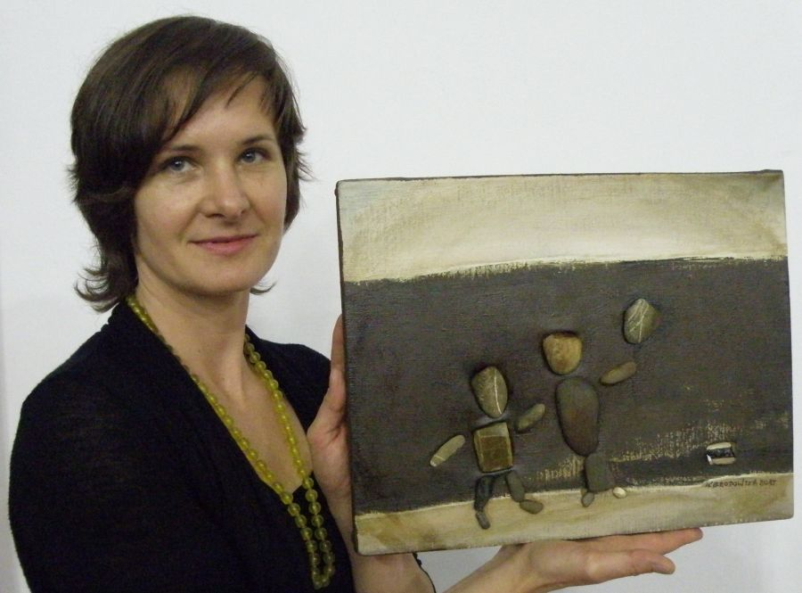 foto: Katarzyna Brodnowska - artystka z Krakowa prezentuje swoją pracę