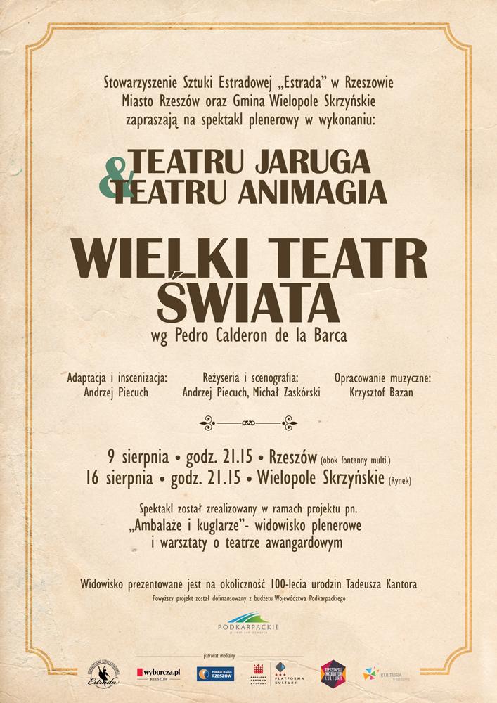 wielki teatr świata - plakat