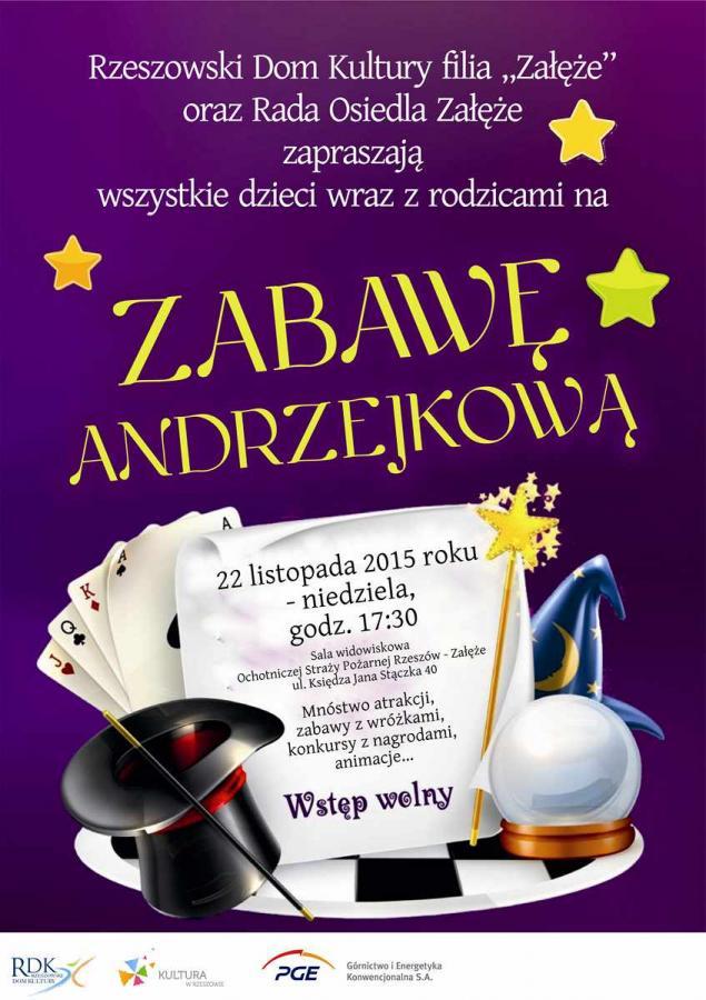 Plakat - Zabawa Andrzejkowa dla dzieci i rodziców