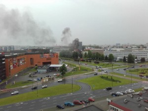 pożar na Kopisto