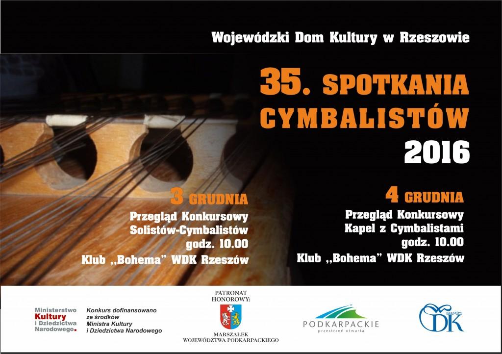 plakat cymbaliści - 2016 nowy