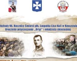 5-6 marca: obchody 96. rocznicy śmierci płk Lisa-Kuli w Rzeszowie