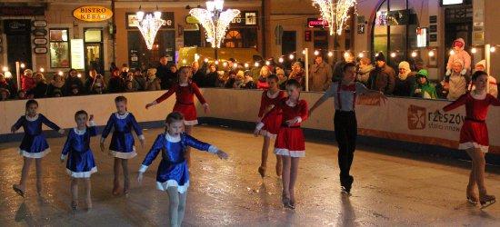 Pokaz tańca na lodzie rozgrzał rzeszowski Rynek (ZDJĘCIA)