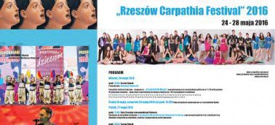 """Rzeszów śpiewem stoi. Od 24 maja XII Międzynarodowy Festiwal Piosenki ,,Rzeszów Carpathia Festival"""" 2016"""