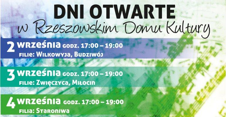 Dni Otwarte w Rzeszowskim Domu Kultury