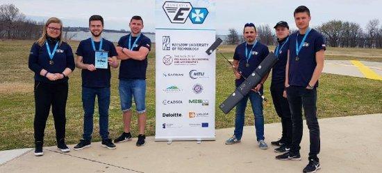Studenci Politechniki Rzeszowskiej zdobyli złoty medal na zawodach lotniczych w USA
