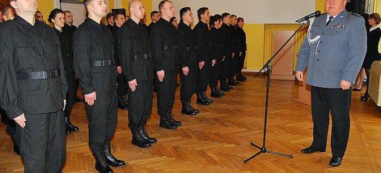 45 nowych policjantów złożyło uroczyste ślubowanie (ZDJĘCIA)