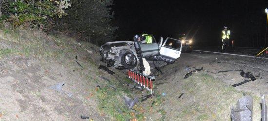Wypadek w Głogowie Małopolskim. Nie żyje 24-letni pasażer volvo (ZDJĘCIA)