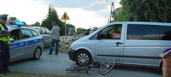 Zderzenie rowerzystki z samochodem w Kolbuszowej Dolnej