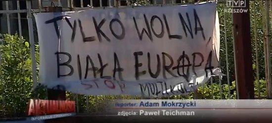 """""""Tylko wolna biała Europa. Stop multikulti"""". Rzeszowianie nie chcą uchodźców?"""