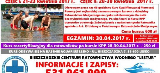 KURSY: instruktora pływania, kwalifikowanej pierwszej pomocy, ratownika wodnego