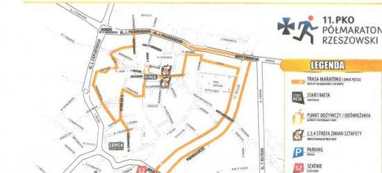 NIEDZIELA: Półmaraton Rzeszowski. Ulice częściowo lub całkowicie wyłączone z ruchu