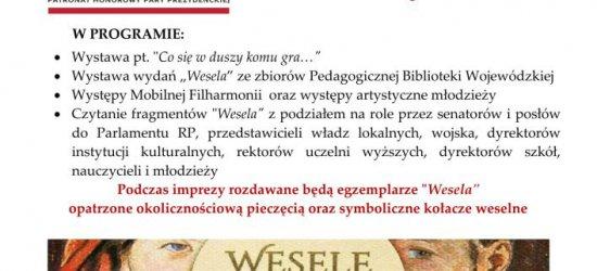 """Narodowe Czytanie przy bazylice Ojców Bernardynów. W tym roku posłuchamy """"Wesela"""""""