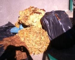 Ponad 200 kg tytoniu znaleziono na jednej z prywatnych posesji w Rzeszowie