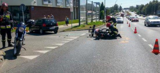 Dwa wypadki z udziałem motocyklistów w Rzeszowie