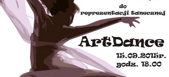Dołącz do grupy tanecznej ArtDance. Przesłuchania już 15 września