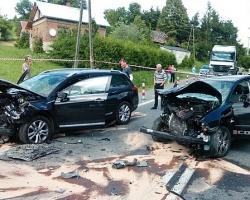 Wypadek na drodze krajowej nr 19 [ZDJĘCIA]