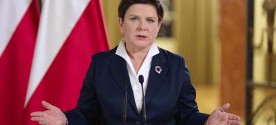 """""""Polityka może nas dzielić, ale nie wolno Polaków stawiać przeciwko sobie"""". Premier Szydło o strajkach KOD (FILM)"""