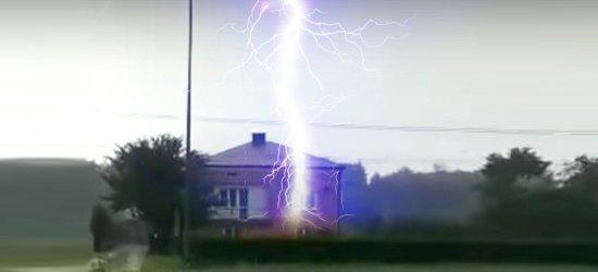 Piorun uderza w dom! VIDEO (BEZ CENZURY)