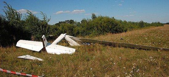 Wypadek na lotnisku w Laszkach